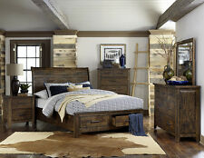 rustic platform beds with storage. RUSTIC PLANKS SOLID WOOD SLEIGH PLATFORM KING BED W/ STORAGE DRAWERS FURNITURE Rustic Platform Beds With Storage O