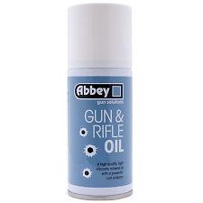 ABBEY GUN SOLUTIONS GUN & RIFLE OIL 150ml AEROSOL SPRAY CAN,FOR AIRSOFT PARTS