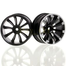 4PCS RC 1/10 On-Road Racing 52mm Black-Silver Wheel Rim For HSP HPI RedCat 601B