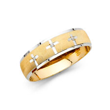 Cz Anniversary Wedding Engagement Ring Band Men 14k Yellow White Solid Gold