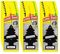 24 x Black ICE Scent Magic Tree Little Trees Car Home Air Freshener Freshener