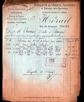 """TOURS (37) USINE de VERNIS PEINTURES """"LEVEILLAULT & HERAIL"""" en 1906"""