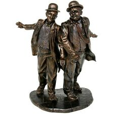 Bronzed Cast Resin Laurel And Hardy Screen Legends Ornament Statue 96285