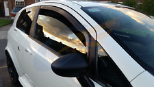 FIAT PUNTO GRANDE or EVO Hatchback 3-doors 2006-up 2-pc Wind Deflectors HEKO Tin