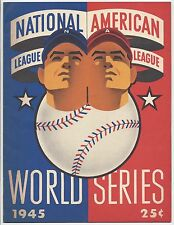 1945 World Series program Chicago Cubs Detroit Tigers UNSCORED Wrigley Field