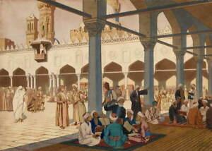 Ivan Bilibin Courtyard Of The Al Azhar Mosque Giclee Paper Print Poster
