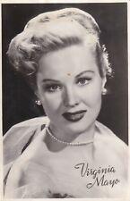 virginia  mayo - hollywood  MOVIE star  GLAMOUR  1940s  FAN  postcard