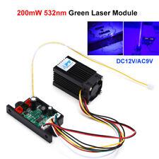 Fat Beam Steady DIY 200mw 532nm Green Laser Module Diode Tec Lighting Stage Fan