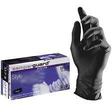 Nitril-einweghandschuhe Semperguard Style Puderfrei schwarz 7 403003