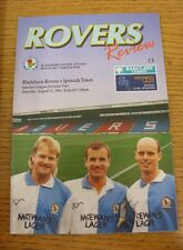 31/08/1991 Blackburn Rovers v Ipswich Town  (Excellent Condition)