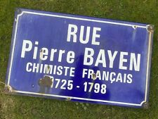 AN ORIGINAL ENAMEL FRENCH STREET NAME SIGN - SINGLE SIDED - RUE PIERRE BAYEN