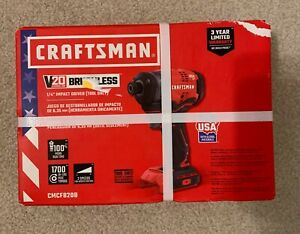 "Craftsman V20 Brushless 1/4"" Impact Driver - CMCF820B - NIB"