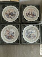D'Arceau Limoges, Lafayette Legacy Plate Collection set of 4 with paperwork