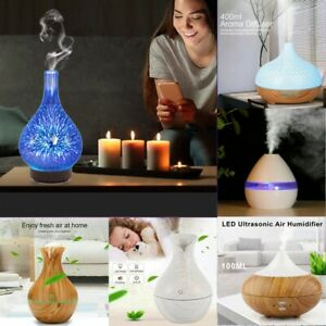 New Ultrasonic Air Diffuser Aroma Oil Mist LED Humidifier Purifier w/ Remote UK