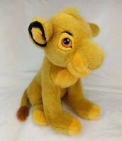 "Disney Store 14"" Simba Cub Young The Lion King Sitting Stuffed Animal Plush"