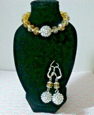 glitzy earrings and bracelet  special