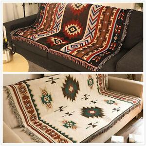 Rrea Rug Tapestry AZTEC Navajo Throw Blanket Sofa Cover Wall Hanging home decor