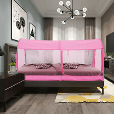 Bed Canopy Tents Portable Mosquito Net Mesh Tent Canopy Full Size Pink