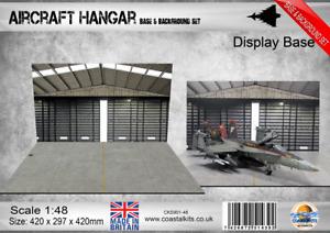 Coastal Kits 1:48 Scale Aircraft Hangar Base & Background Set