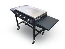 More details for griddle bbq with side tables & stainless steel top, folds flat - tasty trotter
