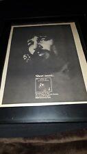 Waylon Jennings Dreaming My Dreams Rare Original Promo Poster Ad Framed!