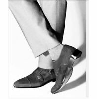 Handmade Men Monk Strap Shoes, Suede Shoes, Gray Shoes, Formal Shoes