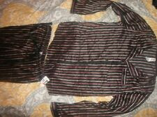Gilligan & O'Malley Womens Sleep Set, size M Black/White/Pink/Stripe (B14)