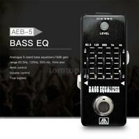 AROMA 5-Band Graphic EQ Bass Guitar Equalizer Effect Pedal True Bypass US F0Q7
