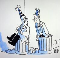 [ Humor - Presse ] Guy Valls - Silvester - Zeichnung Original Unterzeichnet