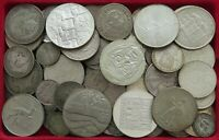 COLLECTION LOT WORLD SILVER ONLY SILVER COINS 84PC 703GR #xx15 043
