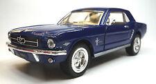 Oldtimer Sammlermodell 1964 1/2 FORD Mustang dunkelblau 1:36 KINSMART Neuware