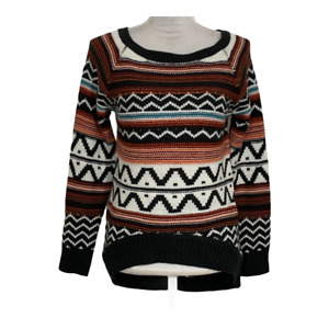 Anna Grace Womens Sweater Crew Neck High Low Long Sleeve Top Ladies Size Small