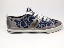 Guess Leather And Fabric Trainers Uk 3 Us 5.5