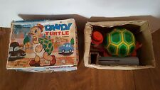 Vintage Dandy Turtle Tin Battery Operated Walking Turtle Toy With Box AS-IS!