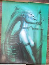 "VINTAGE POSTER~HR Giger Biomechanoid #269 (1975) 28x20"" 1984 Ugly Publishing~NOS"