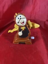 1991 Burger King Wind-up Toy Disney Beauty and the Beast Cogsworth Clock Figure