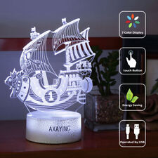 ONE PIECE THOUSAND SUNNY 3D Acrylic LED 7 Color Night Light  Desk Lamp Gift 2019
