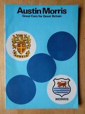 AUSTIN MORRIS MINI MG PRINCESS VANDEN PLAS orig 1978 UK Mkt Sales Brochure