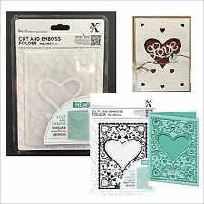Xcut embossing folders A6 HEART FRAME Cut & Emboss embossing folder XCU503803