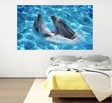 Wall Sticker Dolphin Self-adhesive Removable Waterproof Decals Floor Stickers
