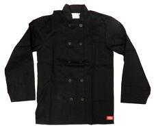 Dickies Black Chef Coat Jacket Cw070305A Restaurant Button Front Uniform 3X New