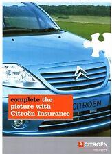 CITROEN proprietari assicurazione 2003 mercato britannico FOLDOUT opuscolo