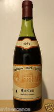 vin Bourgogne CORTON 1981 Domaine Hautes Chapelles bouteille 75cl rouge burgund