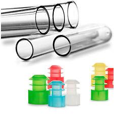 100 Polystyrol Kunststoff Reagenzgläser mit bunten Verschluss Mix - Größe 100x16