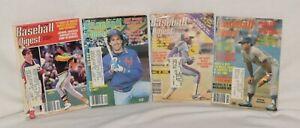 Lot of 4 Baseball Digest Magazine 1982 1981 1986 Canseco Hank Aaron Nolan Ryan