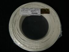 22 GAUGE 4 CONDUCTOR 100 FT WHITE ALARM WIRE SOLID COPPER HOME SECURITY CABLE