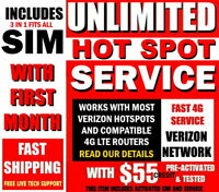 HOTSPOT SIM CARD ⭐ UNLIMITED 30 DAYS FUNDED ⭐ PAGE PLUS ON VERIZON NETWORK