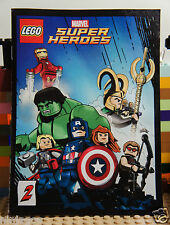 LEGO Marvel Avengers SuperHeroes Iron Man Hawkeye Loki Thor Mini Comics Magazine