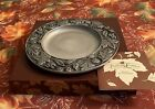 """Longaberger 2001 Falling Leaves 8"""" Plate #77321  -Made In USA"""