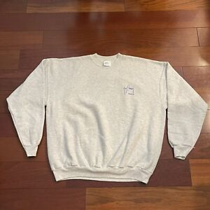VINTAGE Guy Harvey Sweater Adult Extra Large Gray Blue Sunset Sailfish Logo Men